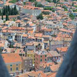 Rovinj viewed bysaint Euphemia