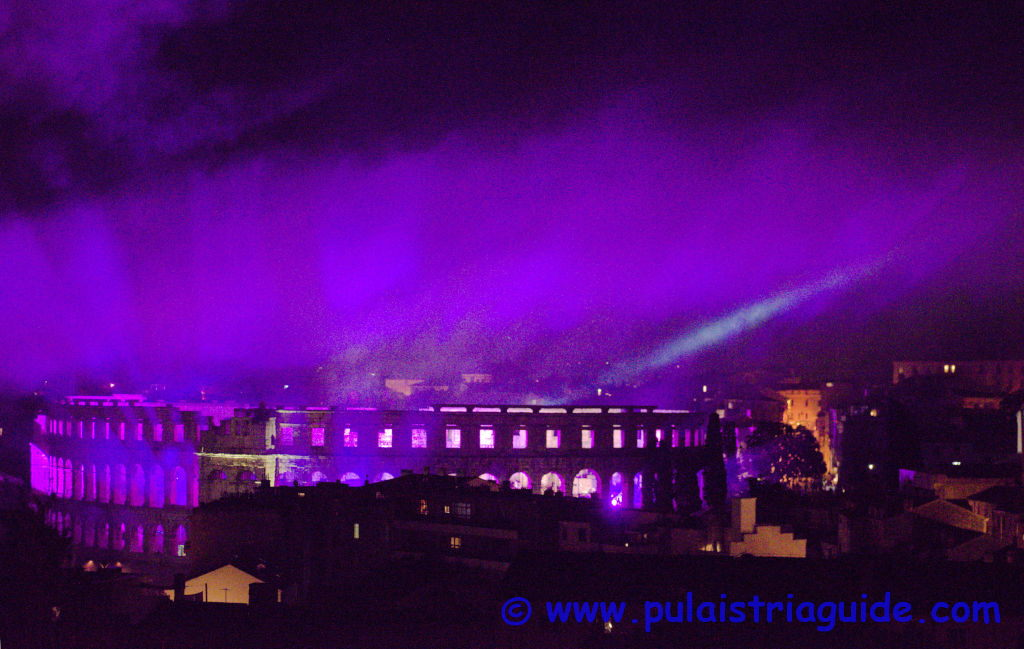 Roman Arena of Pula after fireworks